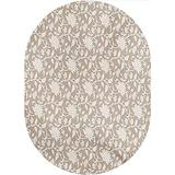 Floral Area Rugs Carpets,Floral Arrangement with Monochrome Design Natural Elements Abstract Pattern Leaves Home Collection Modern Area Rug,4'x 6'Oval,for Kids and Children Bedrooms and Playroom