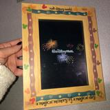 Disney Wall Decor | 3 For $45 Walt Disney World Picture Frame Nwot | Color: Red/Tan | Size: Os