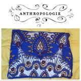 Anthropologie Bedding | Anthropologie Bundle Of Two (2) Standard Shams | Color: Blue/Yellow | Size: Standard Pillow Sham