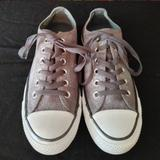 Converse Shoes | Converse Gray Low Top Tennis Shoes Womens Size 8 | Color: Gray/Silver | Size: 8