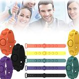 Plazzy Stress Relief Bubble Wristband Toy, Bubble Fidget Sensory Silicone Bracelet Toy , Wearable Push Bubble Sensory Fidget Hand Finger Press Silicone Bracelet Toy (One for Each Color)