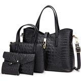 Womens Purses and Handbags Purse Sets for women Hobo bags Women's Shoulder Handbags Ladies Designer Tote Handle Satchel Handbags waterpoor Purse 4pcs 4pcs Black