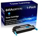 1-Pack (Cyan) Compatible Laser Toner Cartridge High Yield Replacement for HP 645A | C9731A | Laser Printer Toner Cartridge use for HP Laserjet 5500n 5500dn 5550n 5550dn 5550dtn Printer