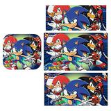 Sonic Game Stickers Decals Cover for Switch Lite Gaming Skin Compatible for Switch Controller,Full Set Wrap Protective Faceplate Console Screen Protector