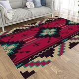 Jesmacti Abstract Area Rug Colorful Area Rug Cotton Area Rug Ethnic Pattern Native Southwest American Textiles Print Aztec Navajo Thick Area Rug Area Rug Runner Pool Area Rug 3X5 Area Rug