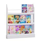 UTEX Wall Bookshelf for Kids, Book Shelf Organizer and Storage for Kids Nursery Décor,Wall Mounted Kid's Book Rack Storage, 3-Shelf Bookcase Organizer Extra Wide (3 Shelves)