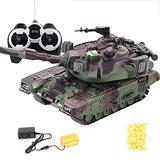 1:32 Military War RC Battle Tank Heavy Large Interactive Remote Control Toy Car with Bullets Model Electronic Boy Toys