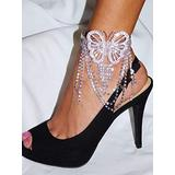 Flexible Iridescent Rhinestone Butterfly Wedding Anklet,Upper Arm or Bracelet Fashion Jewelry for Women Man