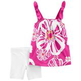 Baby Girl Carter's Floral Tank Top & Bike Shorts Set, Infant Girl's, Size: 6 Months, Purple