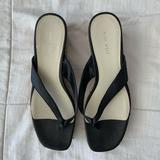 Nine West Shoes | Black And Cork Summer Flip Flops | Color: Black/White | Size: 9.5