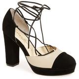 'madison' Cap Toe Platform Pump - Black - Bettye Muller Concepts Heels