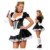 NKLnce Plus Size Cosplay S-6XL Sexy Costumes for Halloween Women's Exotic Maids Dress French Maid Costume Cosplay Maid Outfit Roleplay Maid Outfit Cosplay (Color : Costume, Size : XXXXX-Large)