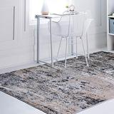 Rugs.Com Leipzig Collection Area Rug – 8X11 Beige Low-Pile Rug Perfect for Living Rooms, Large Dining Rooms, Open Floorplans