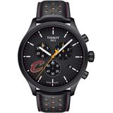 Chrono Xl Nba Leather Strap Watch - Black - Tissot Watches