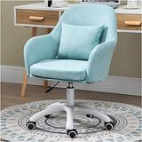 Barber Chair Hydraulic Salon Beauty Hairdressing Chair Upholstered, Low-Back, Adjustable, Swivel Office Desk Chair Small Office Chair Computer Chair Padded Mid-Back Office Computer Desk Chair with Arm