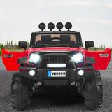 Gymax Truck Car Plastic in Red, Size 32.0 H x 31.0 W x 49.0 D in | Wayfair GYM05325