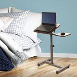 Seville Classics Inc. Tilting Adjustable Laptop Cart Wood in Red/Brown, Size 27.5 H x 26.0 W x 16.0 D in   Wayfair WEB662