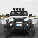 Gymax Truck Car Plastic in White, Size 32.0 H x 31.0 W x 49.0 D in | Wayfair GYM05326