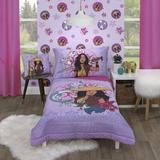 Disney Raya & The Last Dragon Mythic Pop 4 Piece Toddler Bed Set Polyester in Blue/Brown/Pink   Wayfair 4688416P