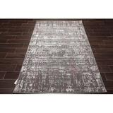 Oriental Rug of Houston Moroccan Hooked Area Rug Polypropylene in Gray, Size 84.0 H x 60.0 W x 0.5 D in   Wayfair WFR15089B