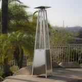 LIN MIE 42000 Btu Propane Patio Heater in Gray, Size 90.5 H x 24.4 W x 24.4 D in   Wayfair I02GJS200922223