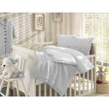 Greyleigh™ Baby & Kids Creedmoor 6 Piece Crib Bedding Set Wool/Cotton/Synthetic Fabric in Gray, Size 47.0 W in | Wayfair