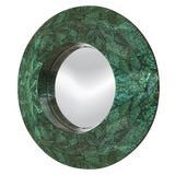 Dakota Fields Round Mother Of Pearl Wall Mirror in Green, Size 31.9 H x 31.9 W x 3.54 D in | Wayfair 6228662BDB184A24922B82CA8AF87154