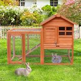 Tucker Murphy™ Pet Natural Wood House Pet Supplies Small Animals House Rabbit Hutch,Gray+White Finish: Natural Wood in Red/Brown/Gray | Wayfair