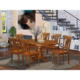 Lark Manor™ Feltner 7 - Piece Butterfly Leaf Rubberwood Solid Wood Dining Set Wood in Brown, Size 30.0 H in | Wayfair