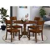 Alcott Hill® Villani Drop Leaf Rubberwood Solid Wood Dining Set Wood in Brown, Size 30.0 H in   Wayfair 011F69F0FBF149969686FBE2225F55A6