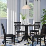 Alcott Hill® Villani Drop Leaf Rubberwood Solid Wood Dining Set Wood in Black, Size 29.5 H in | Wayfair 9A575F9B3250426A8B6925D7DC99B99E