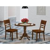 Alcott Hill® Villani Drop Leaf Rubberwood Solid Wood Dining Set Wood in Brown, Size 30.0 H in   Wayfair 224984B8EEA7495C967B6D57F18C5171