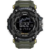 Koodea 1802 Mens Watch Military Water Resistant Sport Watch Army Led Digital Wrist Stopwatches for Male Relogio Masculino Watches (Green)