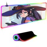 Gaming Mouse Pads,Genshin Impact Large Gaming Mouse Pad RGB Mouse Mat Keyboard Pad for Laptop Computer Gamer Mousepad 900x400mm