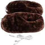 XXXVV Foot Warmer & Back Massager and Foot Massager with Heat, Vibration Massage with 2 Settings of Heating Pads, Feet Massage Machine for Foot,Leg,Back Pain Relief,Brown