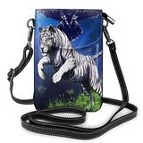 Crossbody Cell Phone Purse White Tiger Black Owl Small Crossbody Bags Women Pu Shoulder Bag Handbag