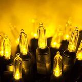 50 T5 LED Christmas Lights Gold, 25.5' Gold Christmas Tree Lights Mini Lights Indoor-Outdoor Christmas String Lights Holiday Lights