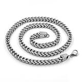 Necklace European and American Stainless Steel Chain Embossed Men's Necklace Titanium Steel Figaro Chain Cuban Chain with Chain Valentine's Day Gift Mother's Day Gift
