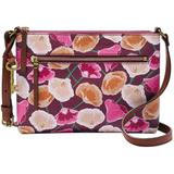 Fiona East West Leather Crossbody - Pink - Fossil Shoulder Bags