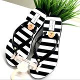 Kate Spade Shoes   Kate Spade Ny Womens Flip-Flops Slippers Milli New   Color: Black/White   Size: 7m