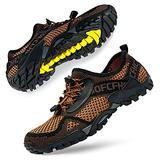 SOBASO Men's Water Shoes Women Barefoot Aqua Water Shoes Quick Dry Swim Shoes for Beach River Lake Sailing Coffee Brown