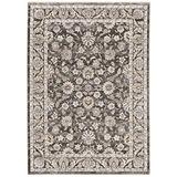 """Sphinx Maharaja Area Rug 070N1 Traditional Grey Faded Floral 2' 3"""" x 7' 6"""" Rectangle"""