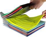 20 Pcs Clothes Organizer Drawer, Closet Organizer Creative Home Closet Clothes Folder Organizer Shirt Folder Documents Dividers T-Shirt Organization System