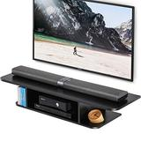 FITUEYES Floating Entertainment Center Wall Mounted Media Console TV Stand Component Shelf, Black