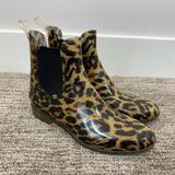 J. Crew Shoes   J.Crew Chelsea Cheetah Rain Boot Womens Size 8   Color: Black/Tan   Size: 8