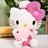 Hello Kitty Plush Toy Navy Cat Stuffied Animal Anime Plushies Kawaii Kitten Plush Doll Children's Birthday Gifts 30cm PinkA