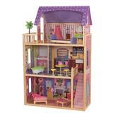 KidKraft Patio & Pool Dollhouse Set Wood in Brown, Size 45.0 H x 13.27 W x 28.86 D in   Wayfair 20040