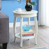 Red Barrel Studio® Jagdambika Side Table In Antique Wood in White, Size 18.0 W x 18.0 D in   Wayfair 7E3D52889DA94C9BAB2CCF86B826E005