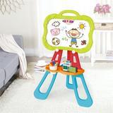 Xuu Art Easel For Kids, Triangular Support Double Sided Magnetic Drawing Board(Pink) Chalkboard/Plastic/Whiteboard in Green   Wayfair XU04076688032