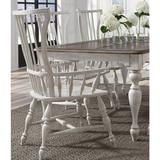 """Delacora P166265-WISTERIA-DINING-CHAIRS-FMHS Windsor Farmhouse Spindle Back 26""""W Dining Chair White"""